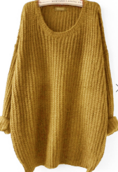 sheinmustardsweater